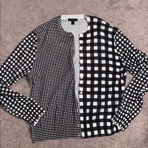 J crew checkered cardigan